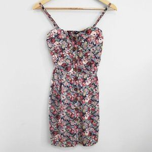 Poetry Floral Button Front Boho Dress